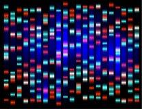 Een abstract voorbeeld van DNA-vingerafdrukken, Stock Afbeelding