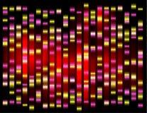 Een abstract voorbeeld van DNA-vingerafdrukken, Royalty-vrije Stock Foto