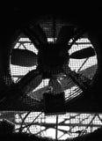 Een abstract zwart-wit beeld van een techniekdetail Stock Foto's