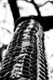 Een abstract zwart-wit patroon van interessante textuur Stock Afbeelding