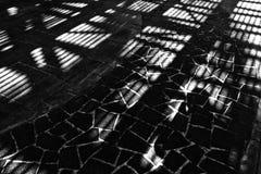 Een abstract zwart-wit steenpatroon van interessante details Stock Afbeelding