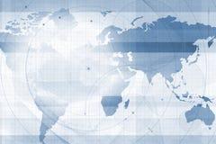 Een achtergrond van de wereldkaart Stock Afbeeldingen