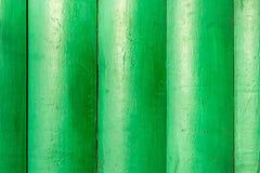 Een achtergrond van groen geschilderd hout stock foto