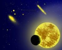 Een achtergrond van het kosmische ruimtebeeldverhaal Stock Fotografie