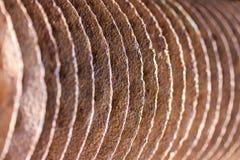 Een achtergrond van metaaldelen dat wordt gemaakt Royalty-vrije Stock Afbeeldingen