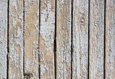 Een achtergrond van wit geschilderd hout Stock Afbeelding