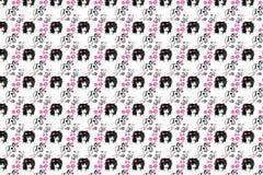 Een achtergrond is in zwart-roze tonen Stock Afbeelding