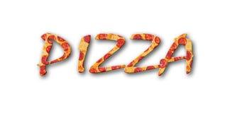 Een achtergrondpepperonispizza Stock Foto's