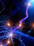 Een actieve menselijke zenuwcel vector illustratie