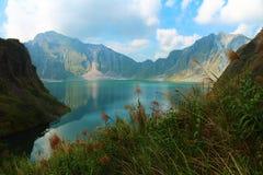 Een actieve vulkaan Pinatubo, Filippijnen Stock Foto