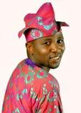 Een Afrikaanse mens die hoed dragen Stock Foto