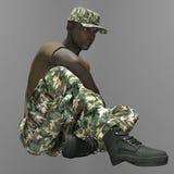 Een Afro-Amerikaanse militair Royalty-vrije Stock Foto