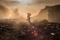 Een afvalplukker Stock Afbeeldingen