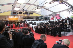 Een algemene mening van atmosfeer Palais des Festivals stock afbeelding