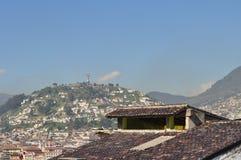Een algemene mening van Quito de stad in Stock Fotografie