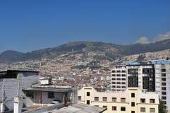 Een algemene mening van Quito de stad in Royalty-vrije Stock Afbeelding