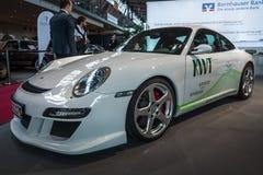 Een alle-elektrische sportwagen eRuf ModeldieA op Porsche 911, 2011 wordt gebaseerd Stock Afbeelding