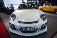 Een alle-elektrische sportwagen eRuf ModeldieA op Porsche 911, 2011 wordt gebaseerd Stock Afbeeldingen