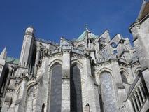 Een altaardeel van de kathedraal van Chartres Stock Afbeeldingen