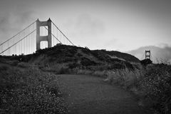 Golden gate bridge, een alternatieve mening Royalty-vrije Stock Foto's