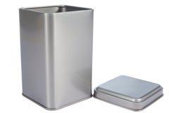 Een aluminiumDoos Stock Afbeeldingen