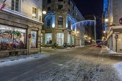 De avond van Montreal, Stock Afbeelding