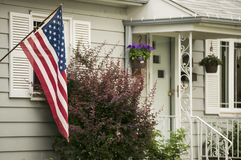 Een Amerikaans Huis stock afbeeldingen