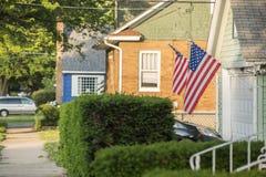 Een Amerikaans Huis stock afbeelding