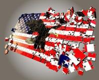Een Amerikaans raadsel Stock Foto's
