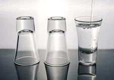 Een ander wodkaschot Stock Foto