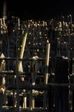 Een andere mening van kaars ligts bij de Kapel van RocioRoyalty-vrije Stock Afbeeldingen