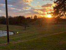 Een andere mooie zonsondergang Stock Foto's