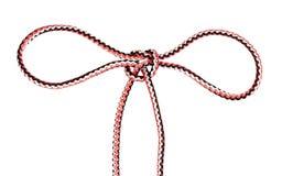 Een andere partij van handcuff knoop bond op kabel royalty-vrije stock afbeeldingen