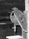 Een antieke boorpers bij mabry molen royalty-vrije stock fotografie