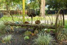 Een antieke hooihark in Florida stock fotografie