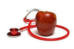 Een appel een Dag Stock Foto's