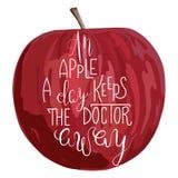 Een appel een dag… Royalty-vrije Stock Foto