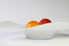 Een appel en een sinaasappel Royalty-vrije Stock Afbeelding