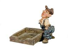 Een arbeider met een pallet Royalty-vrije Stock Afbeelding