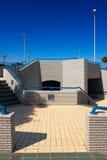 Een architecturaal detail onder Corniche in Ab Royalty-vrije Stock Afbeelding