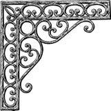 Een architecturaal detail in vorm van een decoratieve hoek royalty-vrije illustratie