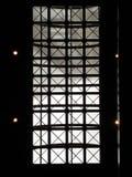 Een architectuurontwerp op het dak met de metaalstructuur en de transparante glazen stock afbeelding