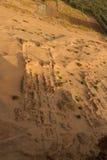 Een arielmening van de geruïneerde tempel bij barkal jebel Stock Fotografie