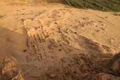 Een arielmening van de geruïneerde tempel bij barkal jebel Royalty-vrije Stock Fotografie