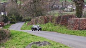 Een 1938 Aston Martin 15/98 in Cumbria, Engeland stock video