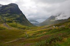 Glencoe, Schotland op een bewolkte dag Stock Afbeeldingen