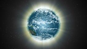 Een aura van licht wikkelt de Aarde - Aardeaura 005 HD royalty-vrije illustratie