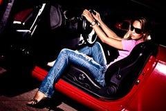 In een auto Royalty-vrije Stock Fotografie