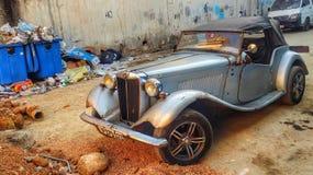 Een auto die in de tijd wordt geplakt royalty-vrije stock fotografie