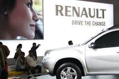 Een auto van Renault op vertoning in AutoExpo 2012 Royalty-vrije Stock Foto